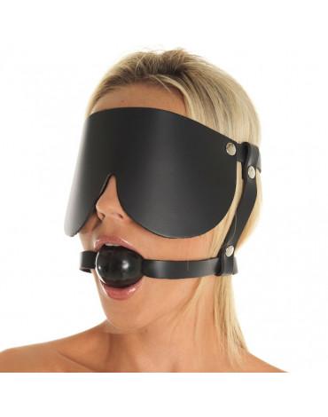 Rimba - Mondknevel met rubber bal en oogmasker