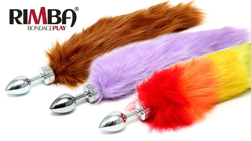 3 New buttplugs with tail